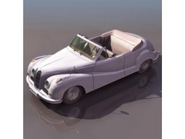 BMW 502 cabriolet 3d model preview