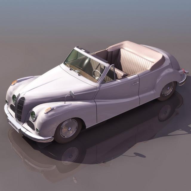 BMW 502 cabriolet 3d rendering