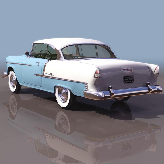 1955 Chevrolet Bel Air 3d rendering