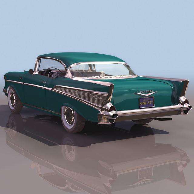 1957 Chevrolet 2-Door Hardtop 3d rendering