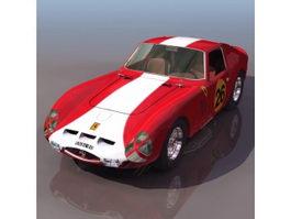 Ferrari 250 sports car 3d model preview