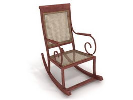 Rocking arm chair 3d preview