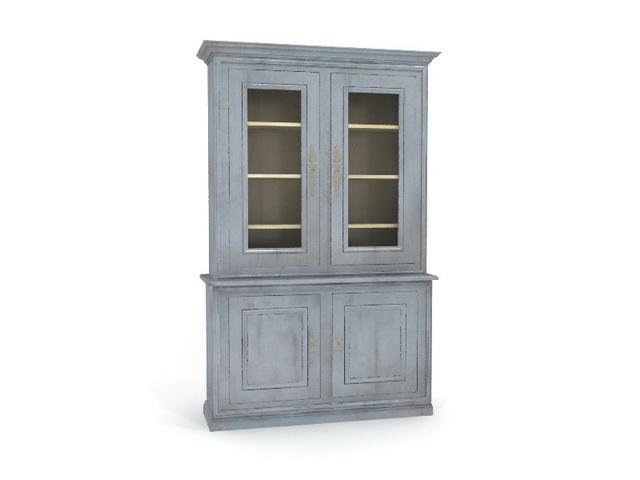 Antique bookcase shelving 3d rendering