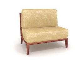 Living room settee 3d model preview