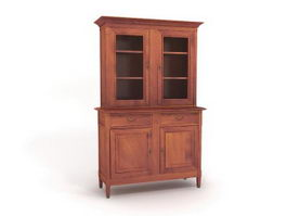 Antique kitchen wall cabinet 3d model preview