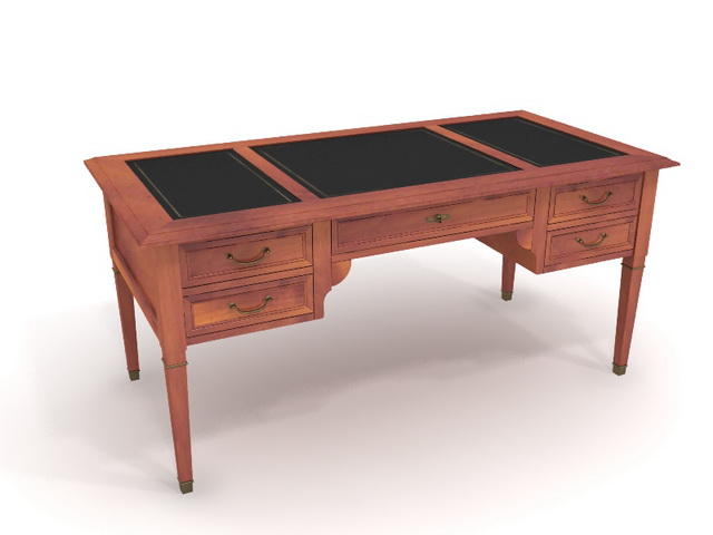 Antique secretaire 3d rendering