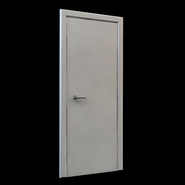 Fire exit door 3d rendering