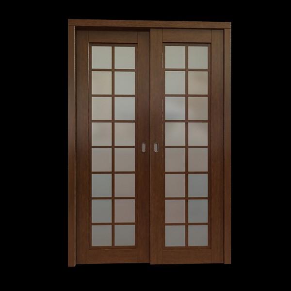 Glazed Double Acting Door 3d Model 3dsmax Files Free