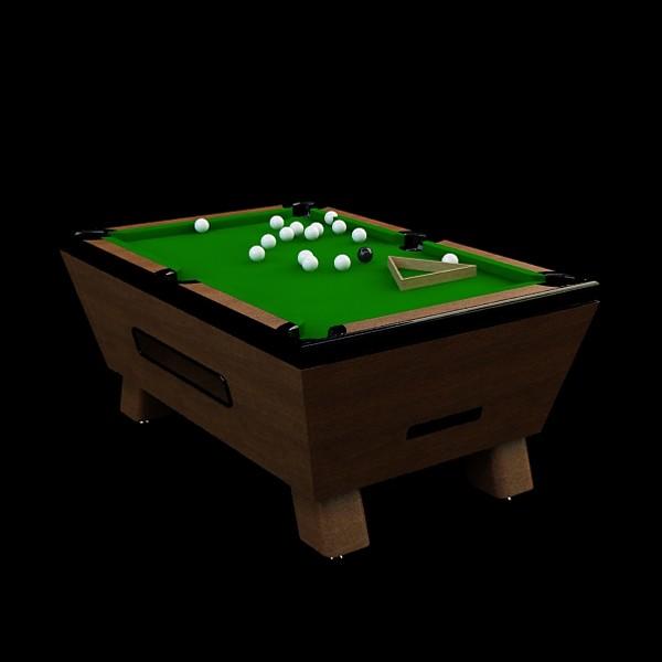 Classic billiards table 3d rendering