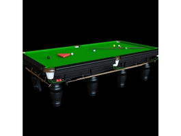 Snooker billiards table 3d preview