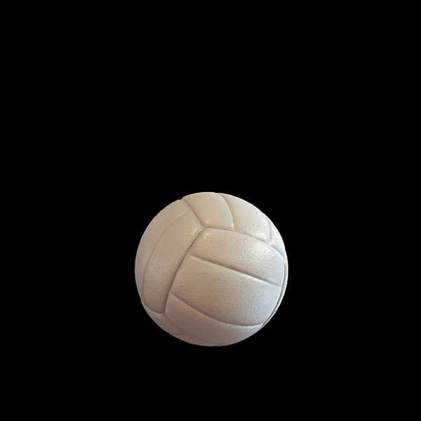 Volleyball 3d rendering