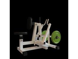 Leg press gym equipment 3d model preview