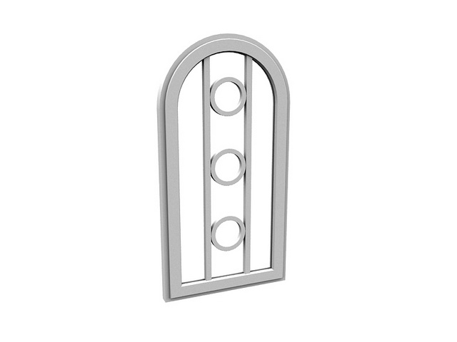 Arch fixed window 3d rendering