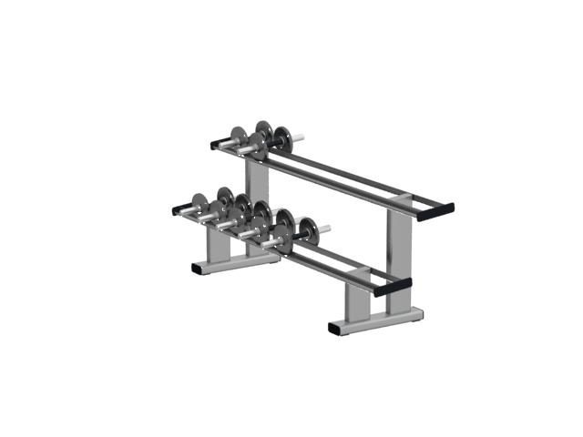 2-tier dumbbell rack 3d rendering