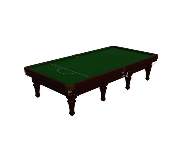Standard billiard table pool table 3d rendering
