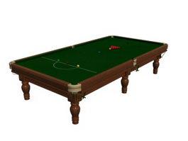 International snooker table 3d model preview