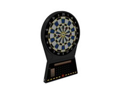 Electric dart board machine 3d preview