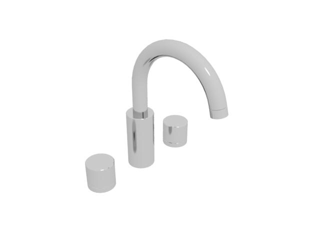Double handle water faucet tap 3d rendering