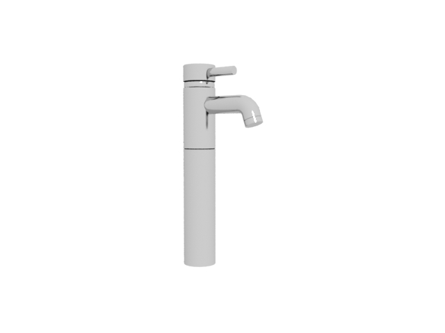 Single lever wash basin faucet 3d rendering