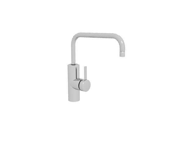 Kitchen sink tap 3d rendering