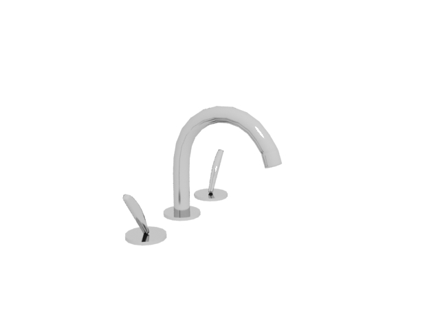 Double handle tap faucet 3d rendering
