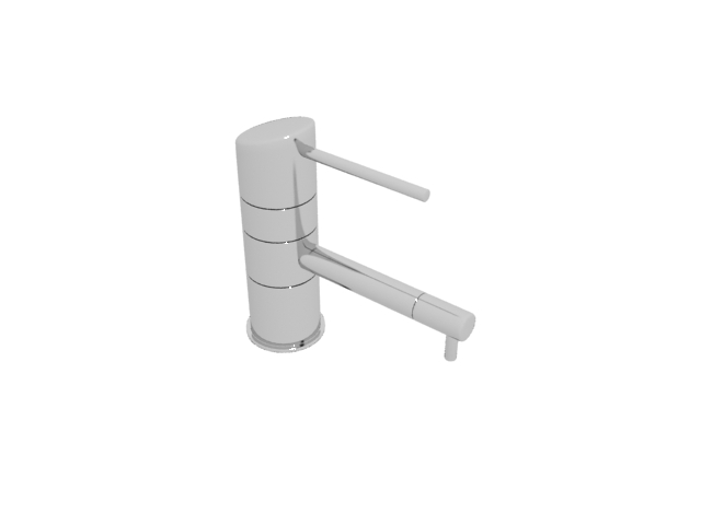 Single lever water faucet 3d rendering