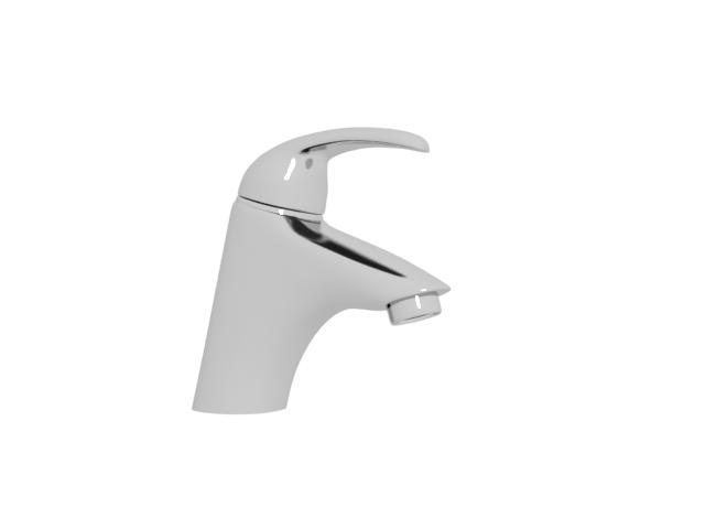 Single handle water faucet 3d rendering