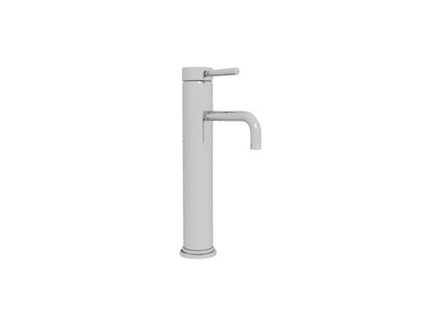 Stainless steel faucet 3d rendering