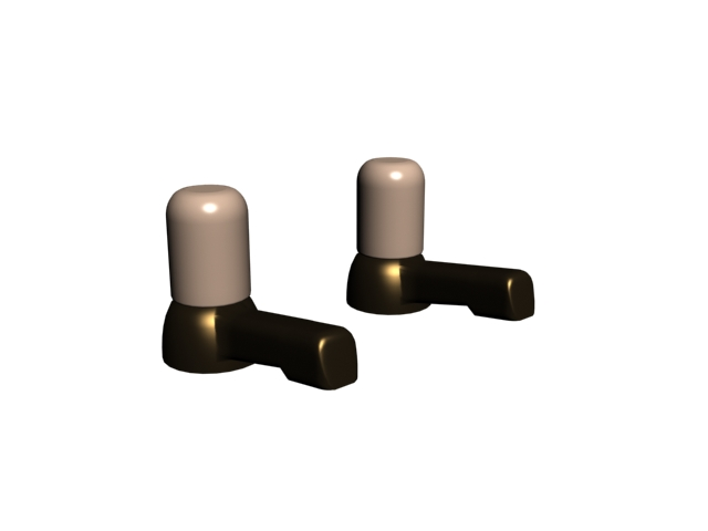 Brass faucet water tap 3d rendering