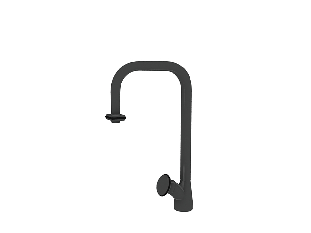Wall mounted shower faucet 3d rendering