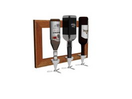 Wall mounted wine rack 3d preview