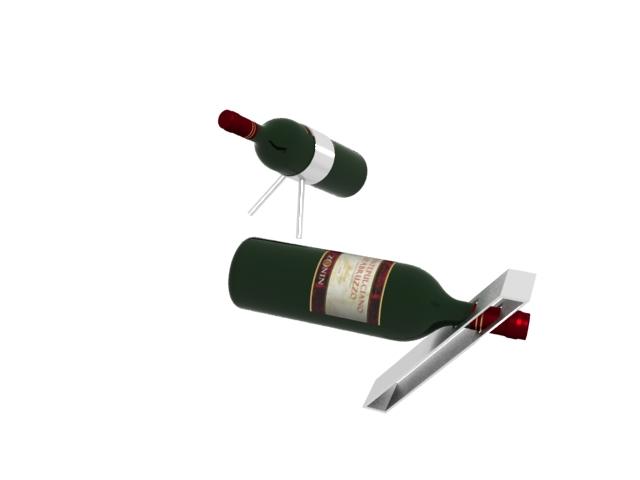 Table Wine Rack 3d rendering