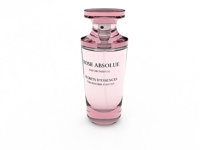 RoSe Absolue Perfume 3d rendering