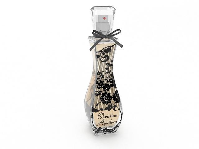 Christina Aguilera Perfume 3d rendering