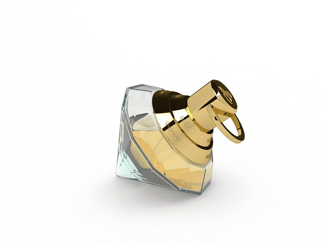 Chopard wish perfume 3d rendering