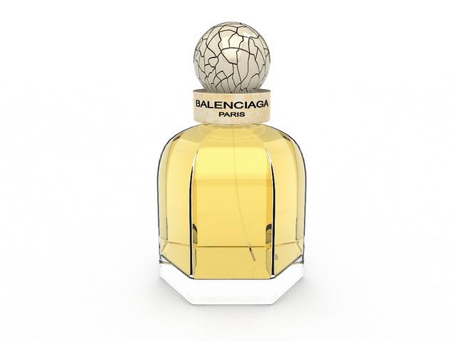 Balenciaga Paris perfume 3d rendering