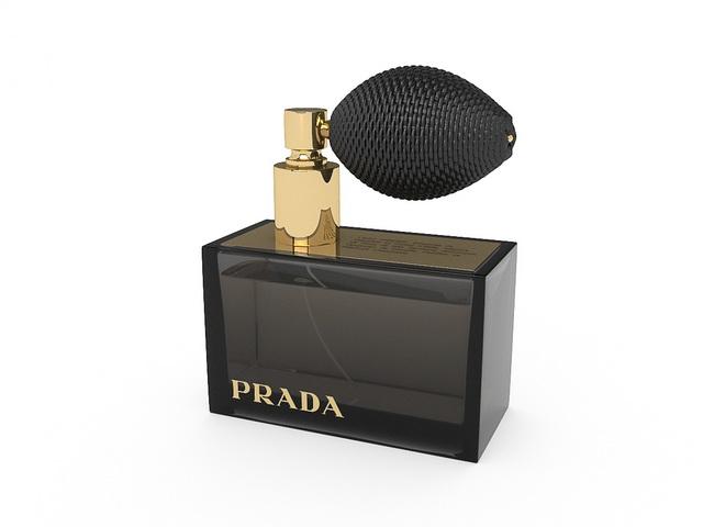 Prada perfume 3d rendering