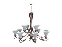 Classic chandelier light 3d model preview