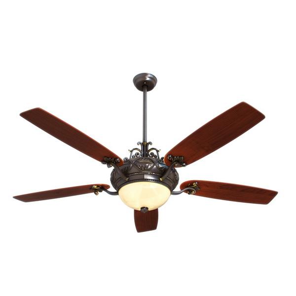 Classic ceiling fan light 3d rendering