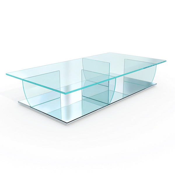 Art design glass coffee table 3d rendering