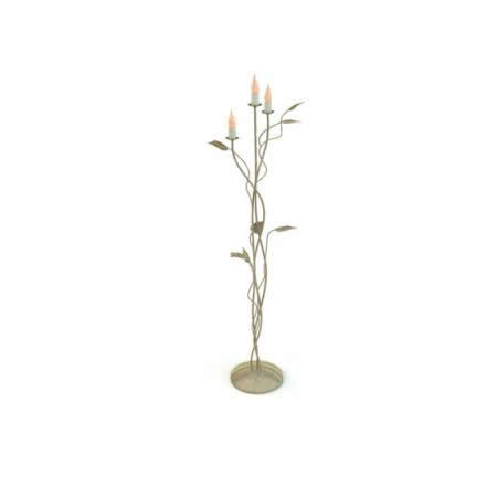 Decorative flower floor lamp 3d rendering