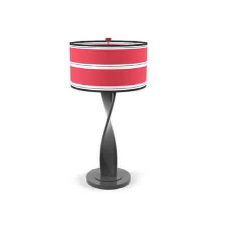 Fabric table lamp 3d rendering