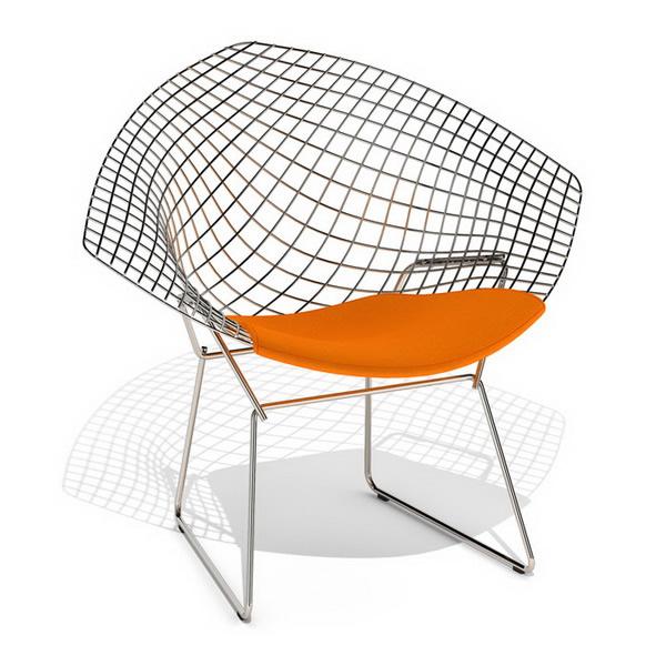 Knoll Bertoia wire diamond chair 3d rendering