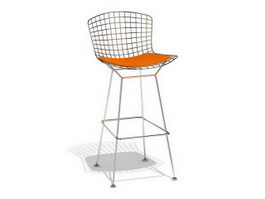 Harry Bertoia barstool 3d preview