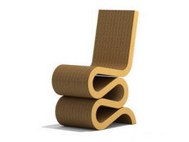 Frank Gehry wiggle side chair 3d preview