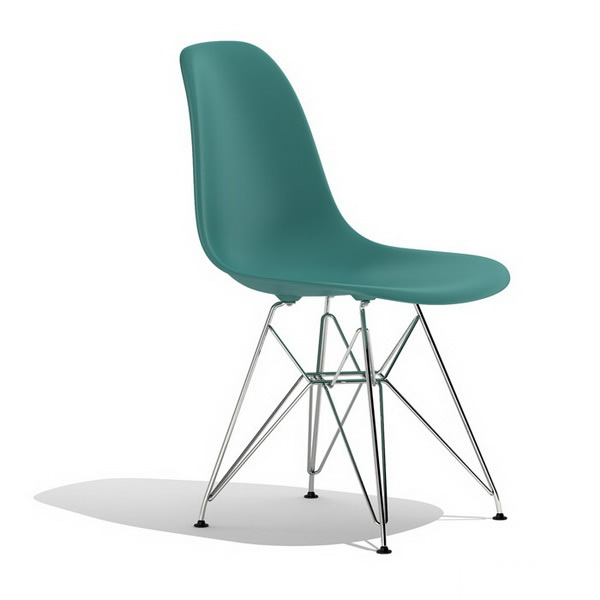 Ray Eames DSR plastic dining side chair 3d rendering