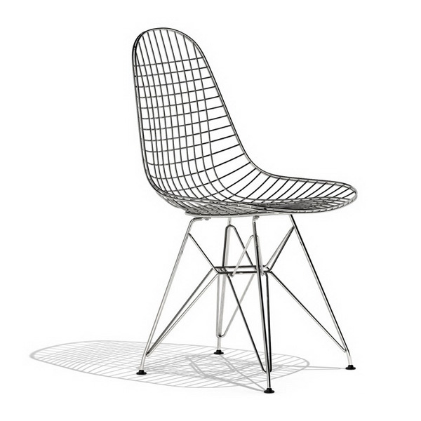 Ray Eames DKR wire dining chair 3d rendering