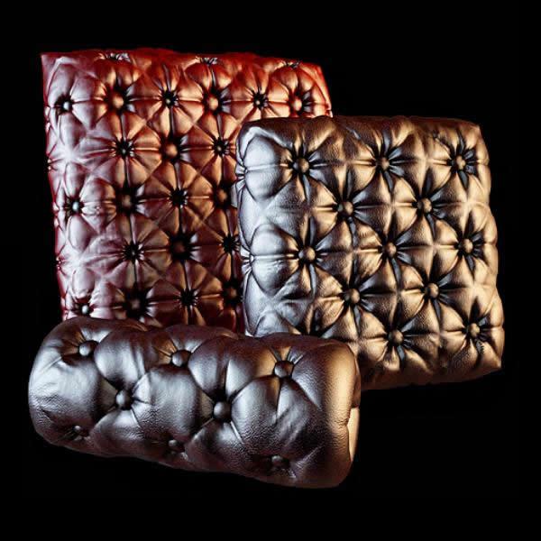 Massage cushion pillow 3d rendering
