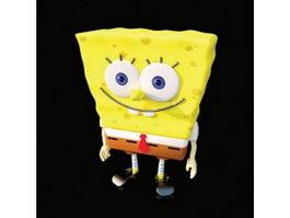 Cartoon toys sponge bob 3d model preview