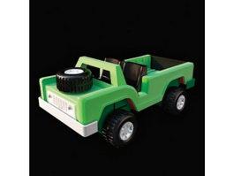 Plastic toy car 3d preview